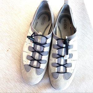 Ecco Vibration II Walking Shoes White/Gray 11/11.5